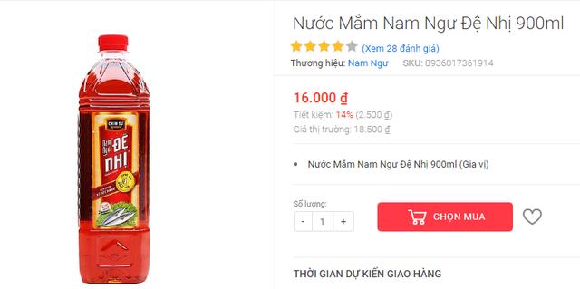 Siêu thị, website thương mại điện tử lập lờ gọi nước chấm là nước mắm - Ảnh 7.
