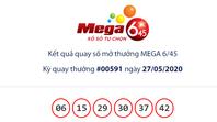 Kết quả Vietlott Mega 6/45 ngày 27/5: Jackpot vẫn 'hụt chủ' dù tăng gần 4 tỉ đồng