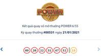 Kết quả Vietlott Power 6/55 ngày 21/1: Cả 2 giải Jackpot đều hụt chủ