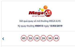 Kết quả Vietlott Mega 6/45 ngày 13/3: Tái khởi động 13 tỉ đồng, jackpot chưa chủ
