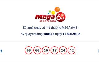 """Kết quả Vietlott Mega 6/45 ngày 17/3: Jackpot hơn 15,2 tỉ đồng vẫn """"một mình"""""""