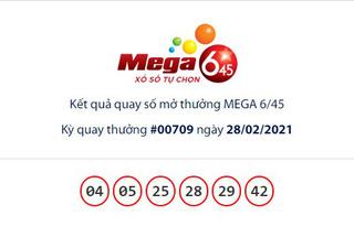 Kết quả Vietlott Mega 6/45 ngày 28/2: Jackpot gần 29,4 tỷ đồng vô chủ